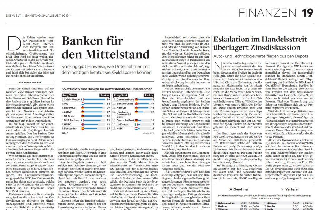 Wie deutsche Mittelständler die passende Bank für sich finden